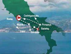 Oferta de viaje a Italia. Entra, informate y reserva el viaje Circuito de 2 dias por Sorrento, Capri y Pompeya salida de Roma