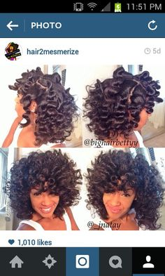 Bantu knots ; spray hair with a leave in before twisting*