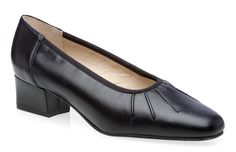 Equity Maxine Black Patent Croc Leather Court Shoe E Fitting