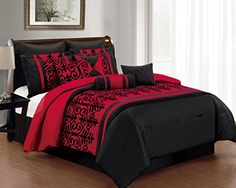 10 Piece Cal King Baccina Black and Red Comforter Set KingLinen http://www.amazon.com/dp/B00L5UHF2K/ref=cm_sw_r_pi_dp_OyVZub061WF55