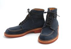 Navy suede Indy Boots hnnngggggg