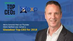 """Wow, very impressive!!🔷🔸👊  """"Glenn has a 97 percent approval score. Among the 770,000 companies reviewed on Glassdoor, the average CEO approval rating is 69 percent.""""  If you are ready to talk eXp give us a call! 210-771-5263 Your future self will thank you! 💵🏡💵"""