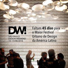Contagem regressiva para o Design Weekend @desigweekendsp maior festival urbano de design da America Latina que acontece em São Paulo O DW irá promover a cultura do design e suas conexoes com arquitetura arte decoracao urbanismo inclusao social negocios e inovacao tecnologica. Serão diversos eventos independentes simultaneos e integrados por um programa oficial.  Aguardem que estaremos lá com o #olioliteam para mostrar tudo para vocês!! #designweekend #design