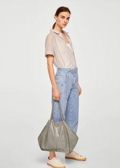 Leather metallic bag