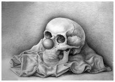 All I can do is smile back. Pencil on paper. By Taren MacCallan