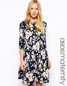 I kind of want this...@ASOS.com.com Maternity Skater Dress In Floral #maternity