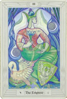 LOVE the Thoth Tarot. Want some real bad. The Empress  Thoth tarot,Aleister Crowley Lady Frieda Harris.