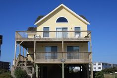 Innisfree By The Sea | Nags Head Rentals | Village Realty. 4 bedrooms, 2 full baths, 2  half baths. Great location, great home, great vacation. Spend a week in the 4 bedroom beach home fronting the Beach Road in Nags Head. Our private hot tub faces the ocean. Oceanviews,  TVs, DVD players, outside shower, outdoor grill. Guests cross the 2 lane Beach Road to access the ocean. Parking 4 cars.