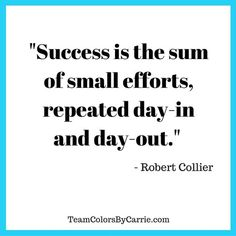 Success is the sum of small efforts, repeated day-in and day-out. Yeah baby, this is totally  #WildlyAlive! #selflove #fitness #health #nutrition #weight #loss LEARN MORE →  www.WildlyAliveWeightLoss.com