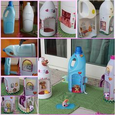 How to DIY Adorable Doll Houses from Plastic Bottles
