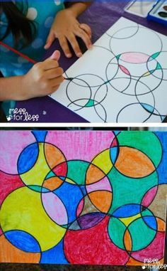 [orginial_title] – Jenn @ Sweet T Makes Three Kids Art Projects – Watercolor Circle Art. The results are always eye catching n… Kids Art Projects – Watercolor Circle Art. The results are always eye catching no matter how kids chose to paint it! Projects For Kids, Kids Crafts, Simple Art Projects, Children Art Projects, Art For Children, Art Project For Kids, School Art Projects, Easy Crafts, School Age Crafts