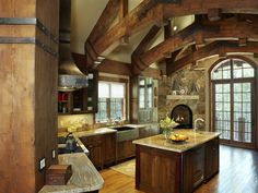 unusual log home kitchen | Click on a thumbnail to see enlarged image and to scroll through all ...