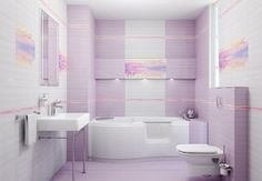 Decoration of small bathrooms with different modern colors Pink Bathrooms Designs, Small Bathrooms, Smart Home Design, Bathroom Design Layout, Room Doors, Modern Colors, Home Decor Kitchen, Ideal Home, Amazing Bathrooms