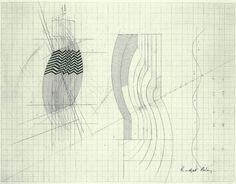 cinoh: Bridget Riley, Stripes, Sketches 1964. Working in her Studio, 1960s. © Bridget Riley. All rights reserved