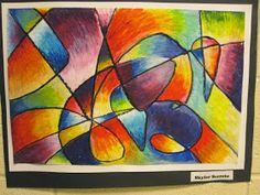 Lake and Hartville Elementary Art: Grade ART- Painting with Oil Pastels Chalk Pastels, Oil Pastels, Art Lessons For Kids, Art For Kids, 7th Grade Art, Oil Pastel Art, Middle School Art, High School, Art Lesson Plans