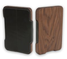 Kindle Fire Handcrafted Wood & Leather Case, $64.99