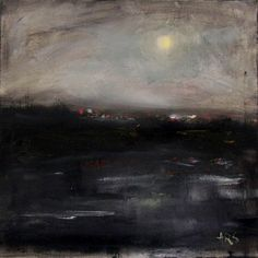 Anastasia Rapantzikou - Saliari / my oil paintings on canvas: nightview of Thessaloniki 40x40cm