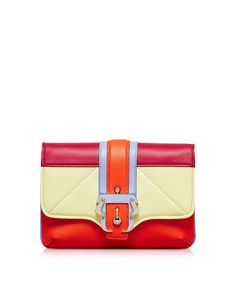 Paula Cademartori Petite Sylvie Orange Leather Clutch at FORZIERI Paula  Cademartori 154594149e77a