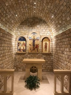Our Lady of Lebanon Chapel in the Basilica of the National Shrine of the Immaculate Conception, Washington, DC Church Interior Design, Church Design, Religious Architecture, Church Architecture, Home Altar Catholic, Hacienda Style Homes, Altar Design, Prayer Corner, Cathedral Church