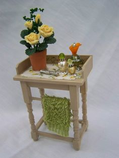 DOLLS HOUSE MINIATURES WASHSTAND by LittleHouseAtPriory