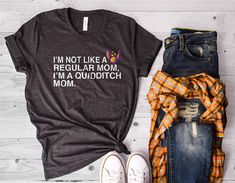 Quidditch Mom - Harry Potter Shirt - Gryffindor Ravenclaw Slytherin Hufflepuff - Quidditch - Butterbeer