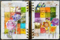 Finnabair Feature - art journal page by Solange Marques #grid