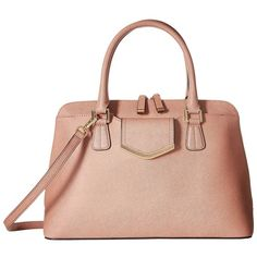 Calvin Klein On My Corner H3GD11RP (Deep Blush) Satchel Handbags (910 RON) ❤ liked on Polyvore featuring bags, handbags, shoulder bags, satchel bag, structured purse, woven purses, shoulder strap bags and structured satchel