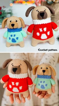 Crochet Dog Patterns, Diy Crochet And Knitting, Crochet Bunny, Amigurumi Patterns, Crochet Dolls, Crochet Tote, Free Crochet, Handmade Ideas, Handmade Toys
