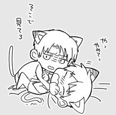 Neko Levi and neko Eren // AoT