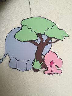 Uro Elefantens vuggevise - Elefantmor og -baby (bagside)