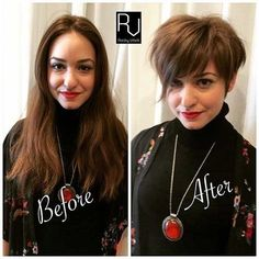Before and After Pics of Short Haircuts. Look at our Before and After Pics of Short Haircuts and try Long To Short Hair, Long Hair Tips, Short Hair Styles Easy, Short Hair Updo, Short Hair Cuts, Short Undercut, Long Bob, Pictures Of Short Haircuts, Short Pixie Haircuts