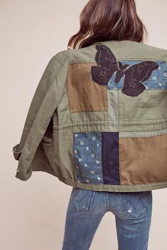 Slide View: 4: Patched Utility Jacket