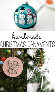 50 handmade Christmas ornament ideas