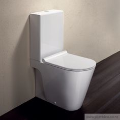 A revolution in toilet design, the Zero Monobloc Toilet Suite by Catalano is a clean and contemporary premium suite. Presented with a single piece cistern cover and designed to sit perfectly flush against the wall, the Zero Monobloc is a suited to any mod Italian Bathroom, Modern Bathroom, Small Bathroom, Bathrooms, Cool Toilets, Back To Wall Toilets, Toilet Suites, Close Coupled Toilets, Glazing Techniques