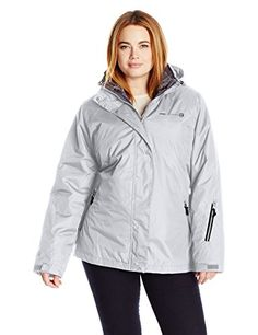 LOOK!! Free Country Women's Plus Size System Jacket with Lattice Print