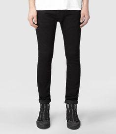Mens Crow Razor Jeans (Jet Black) | ALLSAINTS.com