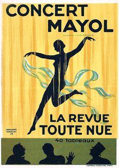 :: Édouard Halouze, 1924, Concert Mayol, La revue toute nue (naked on stage) ::