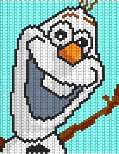 Olaf From Disney Frozen Bead Pattern