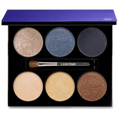 Lancome Color Design 6 Pan Eyeshadow Palette (165 BRL) ❤ liked on Polyvore featuring beauty products, makeup, eye makeup, eyeshadow, beauty, azur chic, lancome eyeshadow, lancome eye shadow, shiny eyeshadow and palette eyeshadow