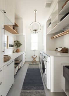 White Laundry Rooms, Modern Laundry Rooms, Laundry Room Design, White Rooms, Modern Room, Laundry Room Remodel, Laundry Room Cabinets, Basement Laundry, Kitchen Cabinets