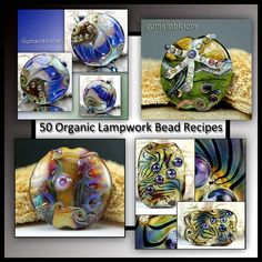 Gemsinbloom 50 Lampwork Organic Bead Recipes - Instant Download Lampwork Tutorial Instruction PDF