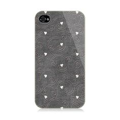 Black Curves And Hearts iPhone 4/4S Case