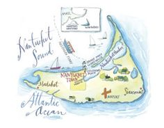 Ready to go? A map of the island of Nantucket, Massachusetts for inspiration, courtesy of Nantucket Style, Nantucket Island, Coastal Style, Nantucket Decor, Nantucket Massachusetts, Places To Travel, Places To Go, Island Map, Wayfarer
