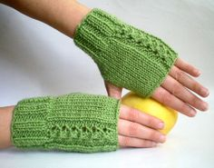 Hand Made Green Wrist Warmers by BySweetMom
