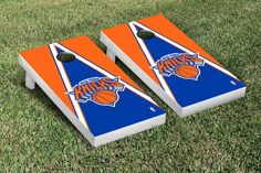Show your team spirit with this officially licensed, regulation-sized New York Knicks NBA Triangle Version Cornhole game set! Your game is ready to play right o Nba New York, New York Knicks, Cornhole Game Sets, Washington Wizards, Toss Game, Detroit Pistons, Backyard Games, Fan Gear, Triangle
