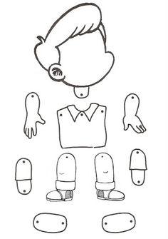 little boy puppet - coloring page Preschool Worksheets, Preschool Activities, Coloring For Kids, Coloring Pages, Toddler Crafts, Crafts For Kids, Body Preschool, Paper Puppets, English Activities