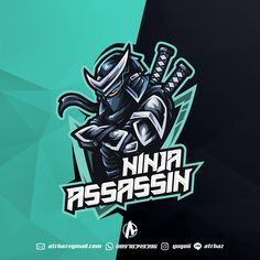 Image may contain: text Team Logo Design, Mascot Design, Game Design, Assassin Logo, Ninja Logo, Lato Font, E Sport, Sport Icon, Esports Logo
