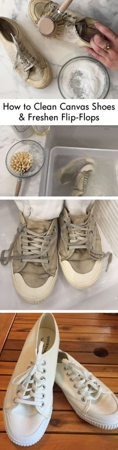 d0a0c96d41e2 Fall Laundress List Step 2 - Clean Summer Shoes. With trips to the beach and