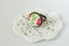Cath Kidston fabric ring  Fabric covered 15mm by disheveledideas, £7.50