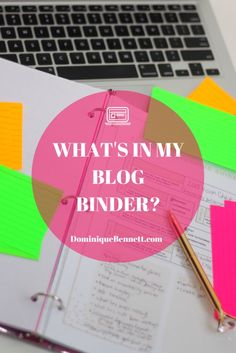 Thinking of starting a blog binder? Take a look inside my blog binder to find links to free printables, and ideas for what you may include in your own. blogging tips, blogging ideas, #blog #blogger #blogtips